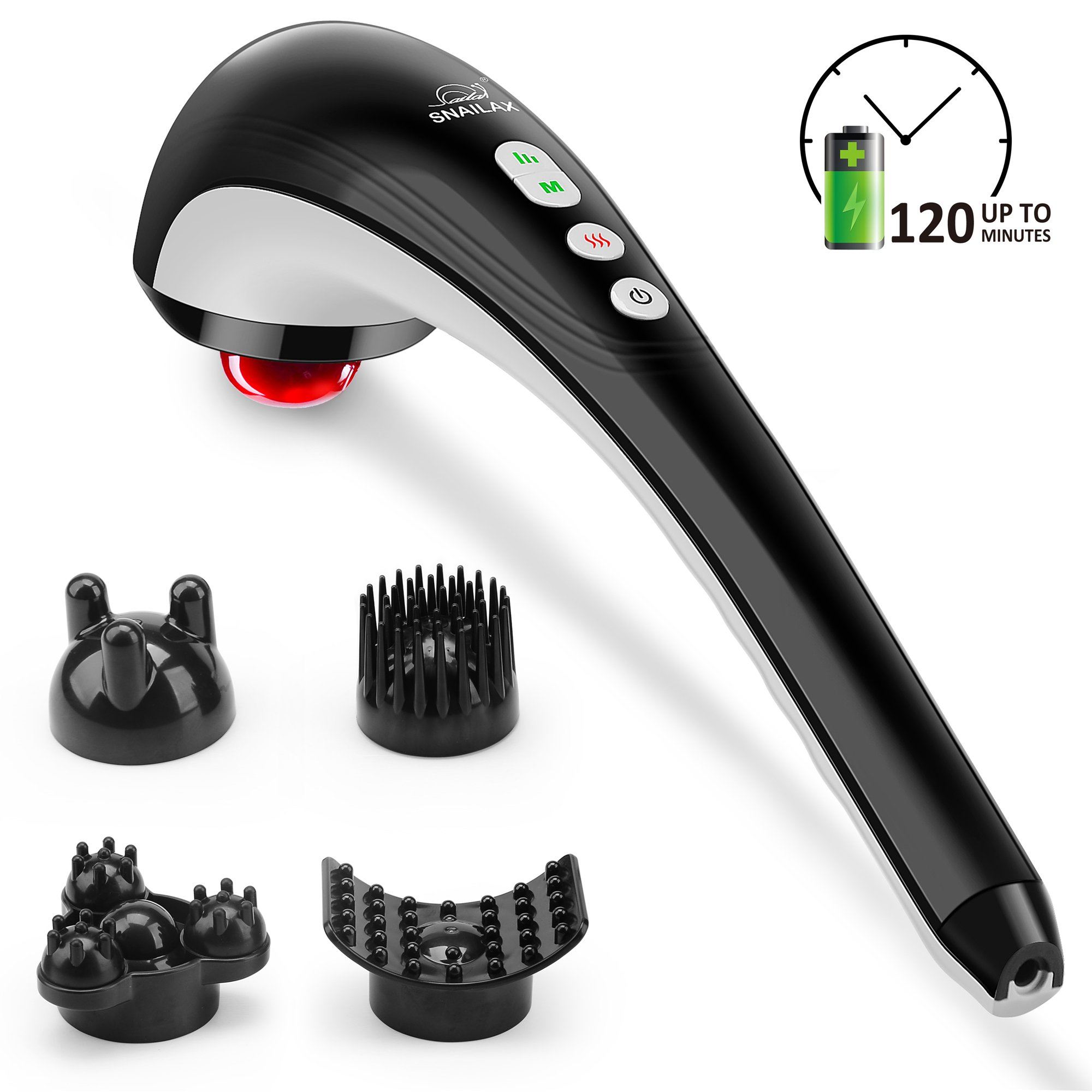 Snailax Cordless Back Massager with Handheld Percussion-482