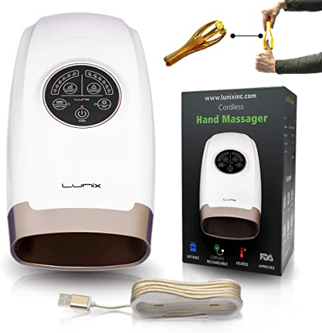 Lunix Cordless Electric Hand Massager with Compression