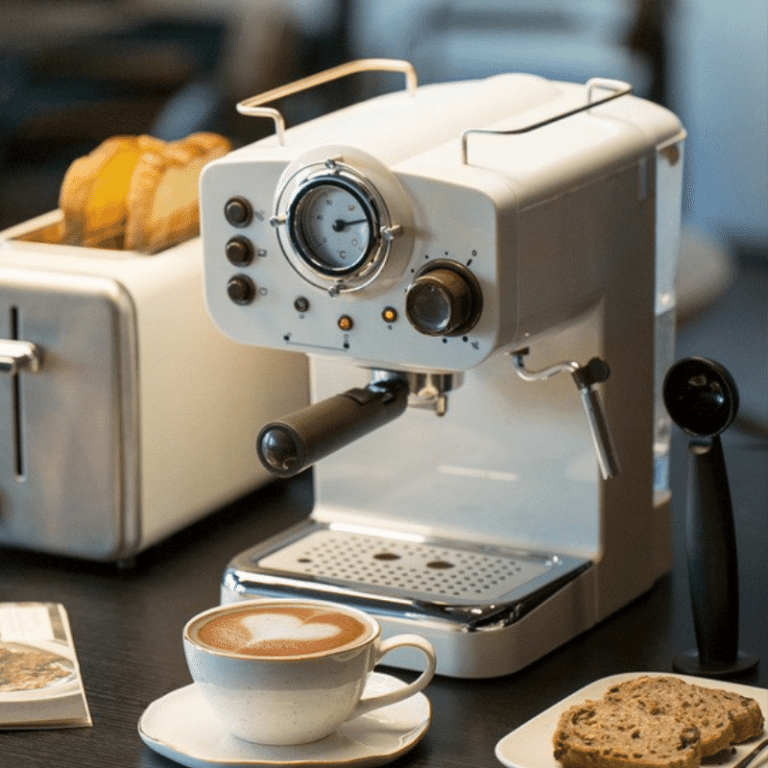 coffee machine on the table